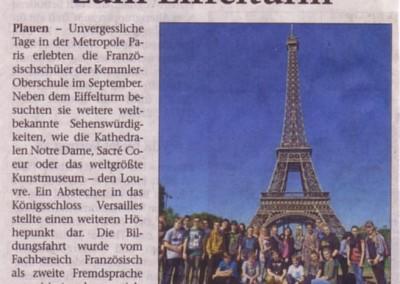 Sprachreise Paris Presse
