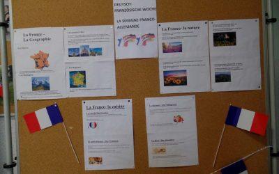 Deutsch – französische Woche an der Kemmlerschule