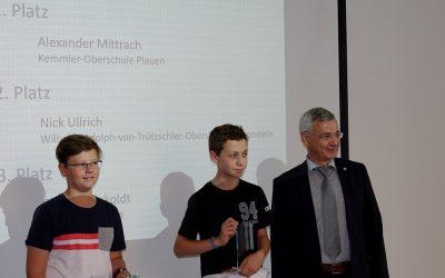 Alexander gewinnt Informatikwettbewerb im Vogtlandkreis